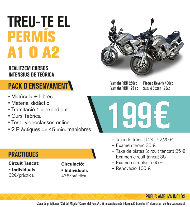 MOTO - CLASSE A2